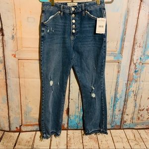 Free People Dylan Cropped Jeans NWT Sz 27